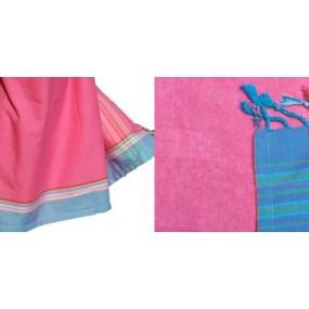 kikoi-serviette-plage-fuchsia