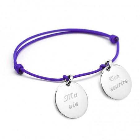 Bracelet personnalisé - Petits Trésors Argent