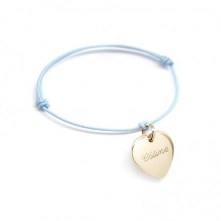 Bracelet personnalisé - Petits Coeurs Plaqué or