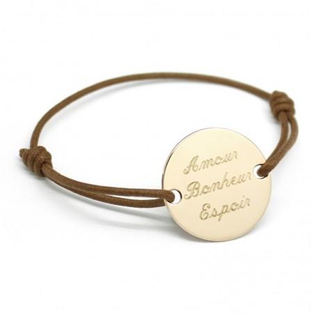 Bracelet personnalisé - Family Plaqué or