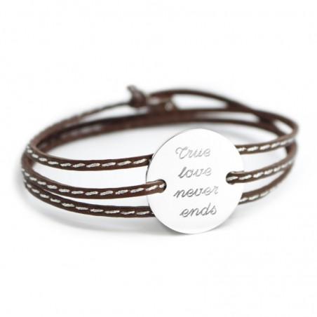 Bracelet personnalisé - Amazone Family Argent