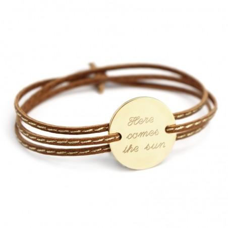 Bracelet personnalisé - Amazone Family Plaqué or