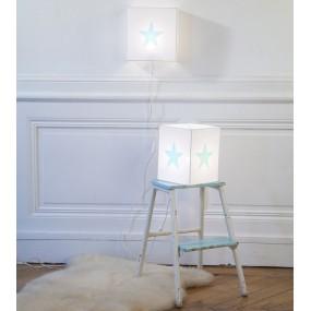 lampe-applique-paillettes-bleu