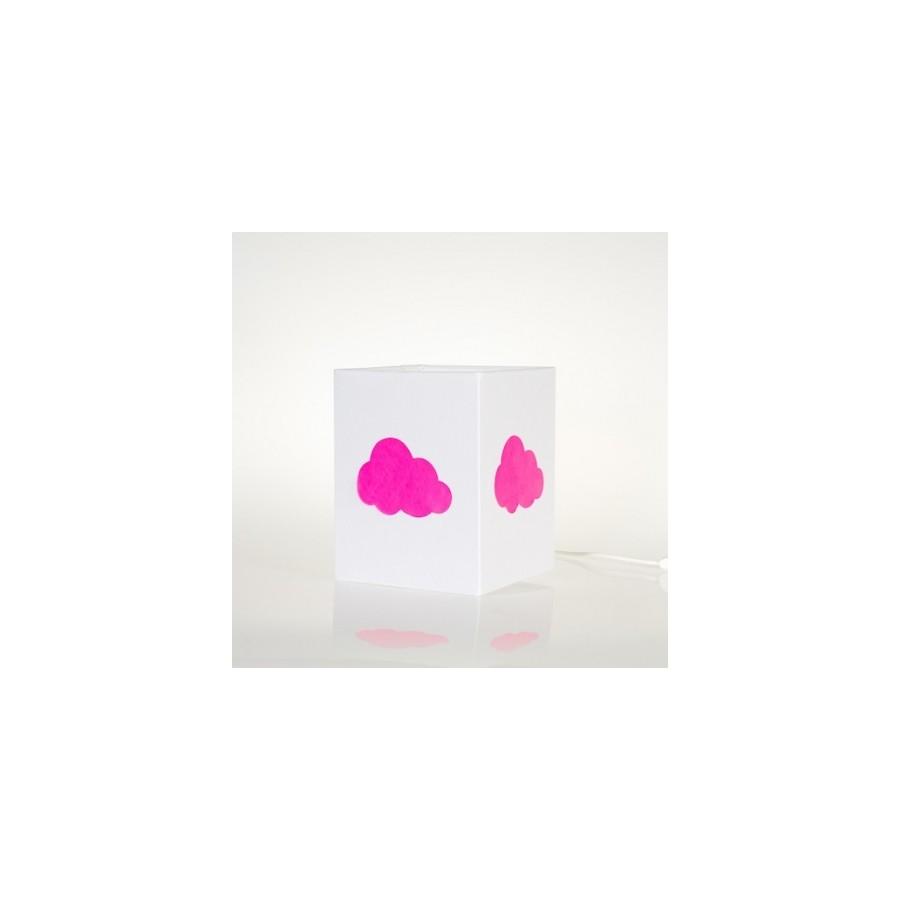 lampe-applique-etoile-fluo-rose
