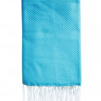 Fouta-nid'abeille-turquoise-personnalisee