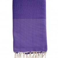 Fouta-nid'abeille-violette-personnalisee