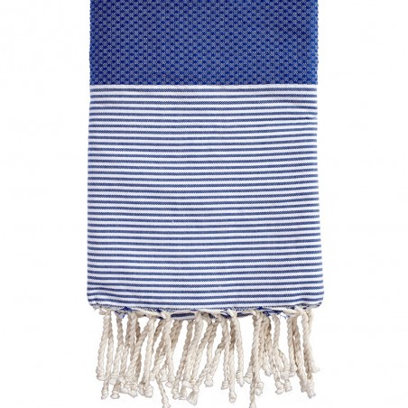 FOUTA NID D'ABEILLE RAYEE PERSONNALISABLE
