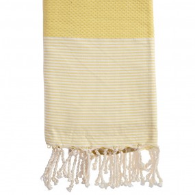fouta-nid-d-abeille-rayee-personnalisee