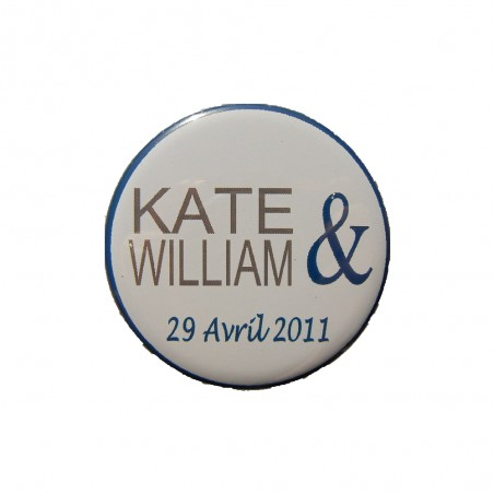 MAGNETS/BADGES 56MM MARIAGE PERSONNALISABLES