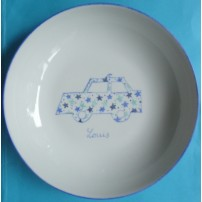assiette-motif-voiture-en-porceleine