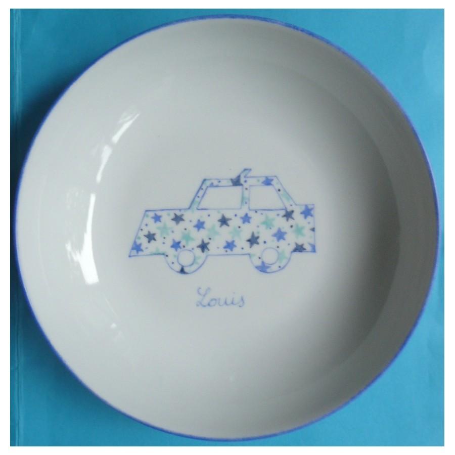 assiette-motif-nuage-personnalisee