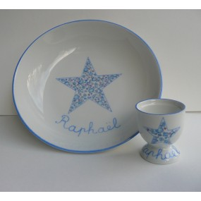 DUO PORCELAINE ASSIETTE...
