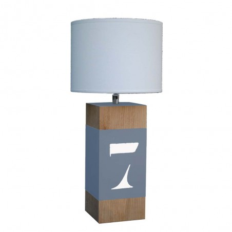LAMPE A POSER EN CHENE FORMAT UP PERSONNALISEE