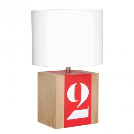 LAMPE A POSER EN CHENE FORMAT BRICK PERSONNALISABLE