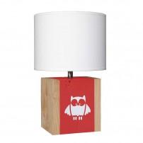 lampe-a-poser-chene-enfant-hibou-rouge