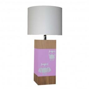 lampe-a-poser-chene-hibou-rose