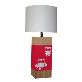 lampe-a-poser-chene-hibou-rouge