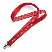 porte-cle-court-personnalise-rouge-pois-rouge