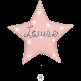 veilleuse-musicale-etoile-lin-rose-pale-personnalisee-prenom-cadeau-de-naissance-personnalise