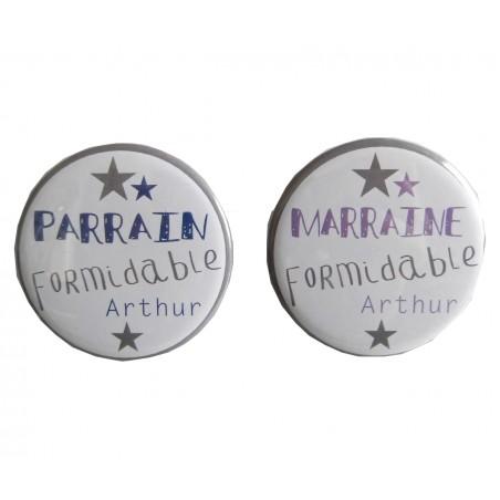 LOT MAGNETS PARRAINS/MARRAINES PERSONNALISABLES
