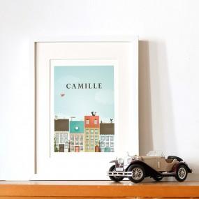 affiche-illustration-personnalisee-prenon-cadeau-naissance-personnalisable