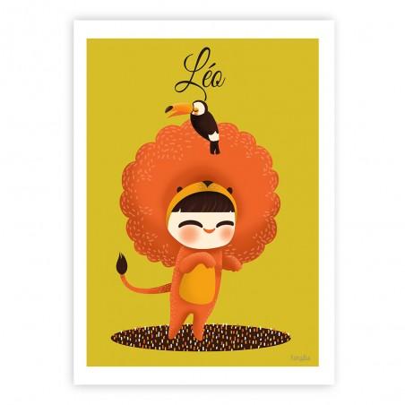 Affiche enfant personnalisé - ADORABLE COSTUME LION