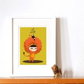 affiche-illustration-vintage-personnalisee-prenon-cadeau-naissance-deco-chambre-enfant-personnalisable