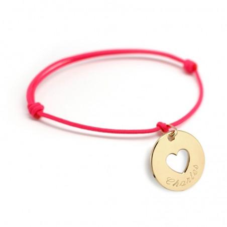 Bracelet personnalisé - Accroche Cœur