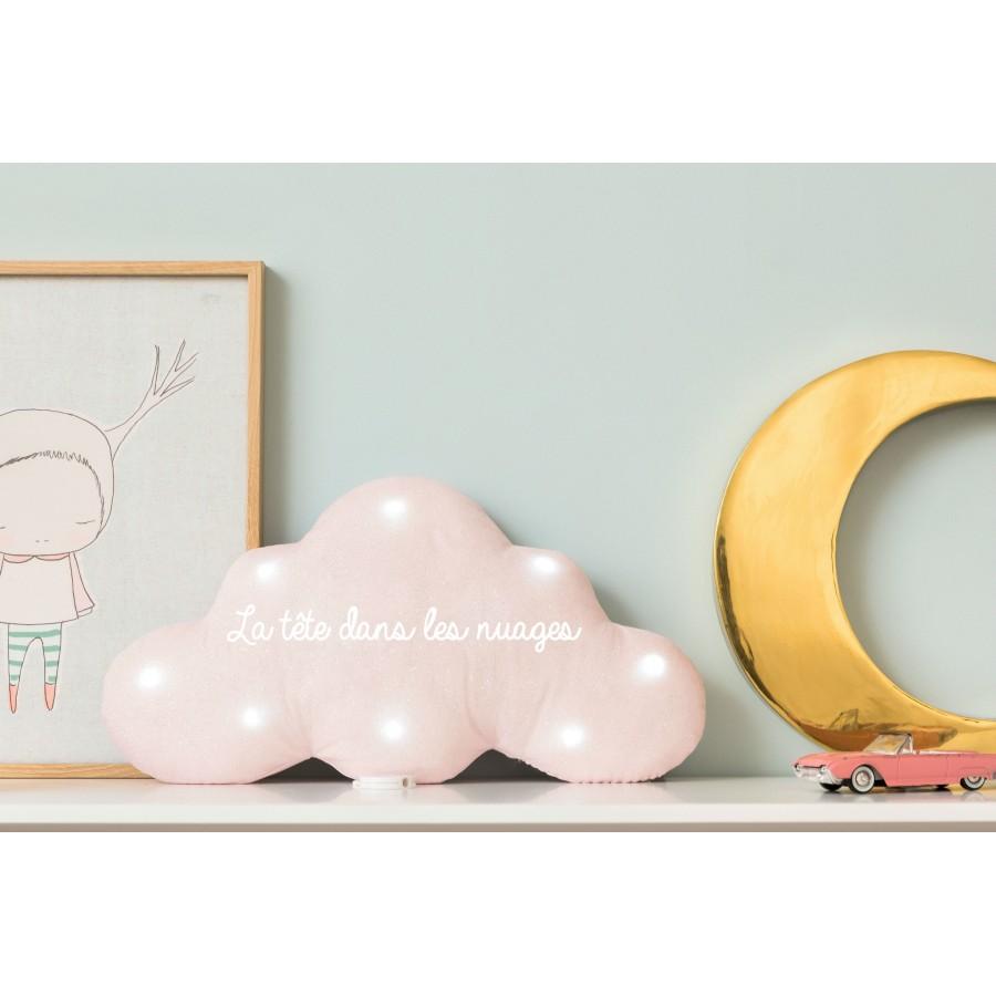 veilleuse-nuage-pailletes-bleu ciel-personnalisee-prenom-cadeau-de-naissance-personnalise