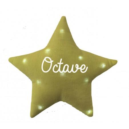 Veilleuse étoile lin personnalisée