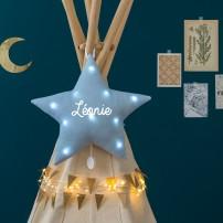 veilleuse-musicale-etoile-bleu-paillettes-personnalise-bebe-cadeau-personnalise