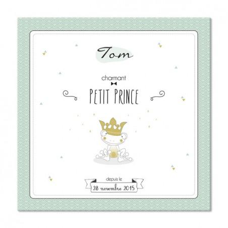 """Tableau de naissance personnalise - modèle 30x30cm """"Petit Prince"""""""