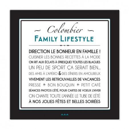 """Tableau canvas personnalisable - Modèle 60x60cm """"FAMILY LIFE STYLE"""""""