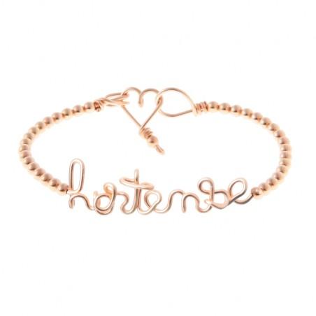 Bracelet personnalisé - Mot sur jonc perlé
