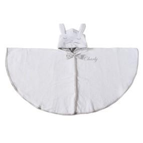 cape-de-bain-enfant-bebe-bain-chaud-coton-lapin-personnsalible-cadeau-naissance