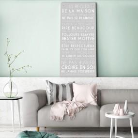 tableau-canvas-règles-de-la-maison-personnalisable-famille-maison-couleur-gris-galet