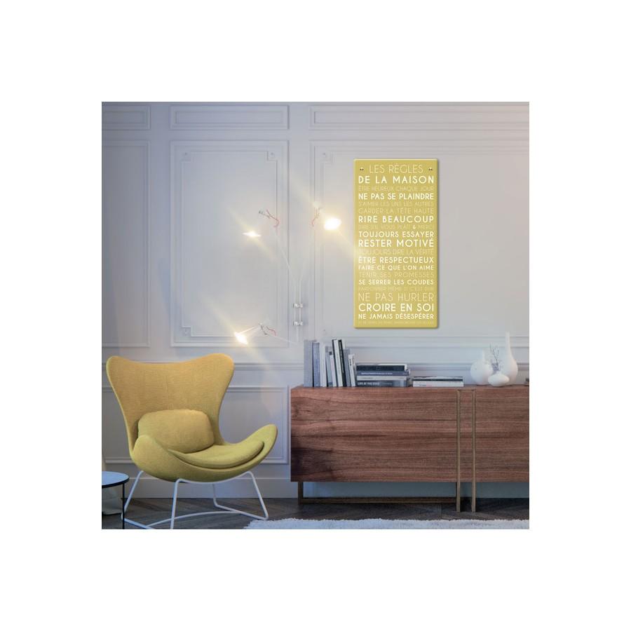 tableau-canvas-règles-de-la-maison-personnalisable-famille-maison-couleur-royal-navy