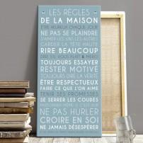 tableau-canvas-règles-de-la-maison-personnalisable-famille-maison-couleur-bleu-glacier