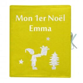 album-photo-personnalise-lin-enduit-cadeau-de-naissance-de noel-personnalise