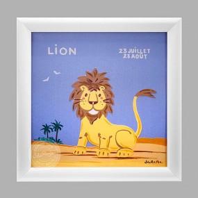 cadre-zodiaque-lion