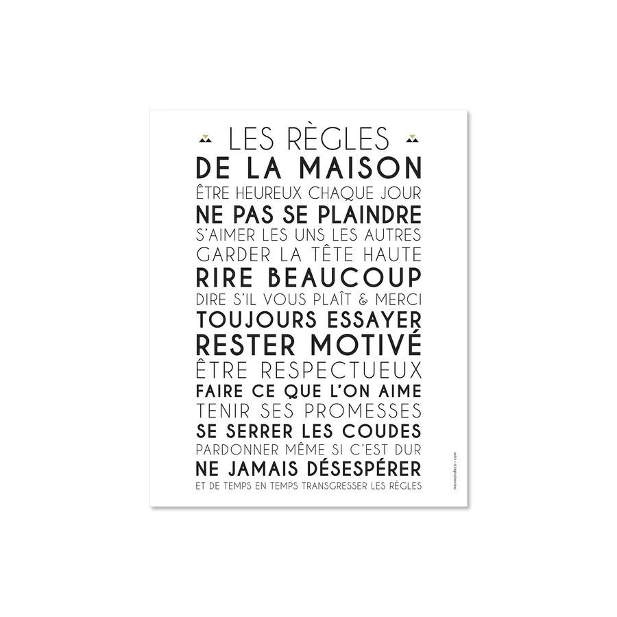 affiche-personnalise-regles-de-la-maison-blanche