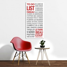 AFFICHE ADHESIVE TO DO LIST...