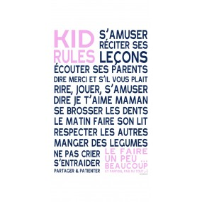 affiche-deco-chambre-enfant-rose