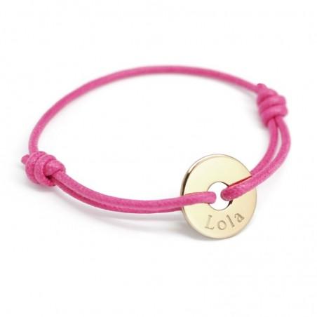 Bracelet personnalisé - Mini Jeton Plaqué or