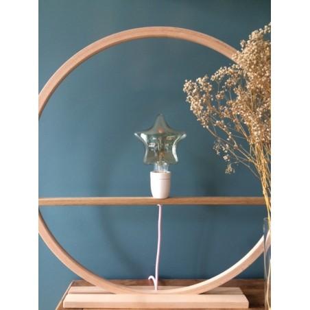 Lampe/applique personnalisé - Modèle bois brut ampoule étoile format 60CM