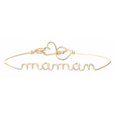 Bracelet  - Mot Maman sur jonc