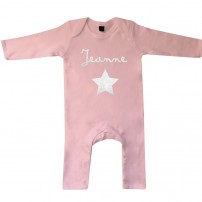 pyjama-bébé-rose-personnalisé