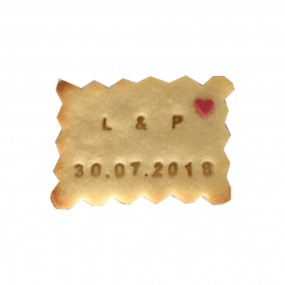 Biscuit personnalisé mariage