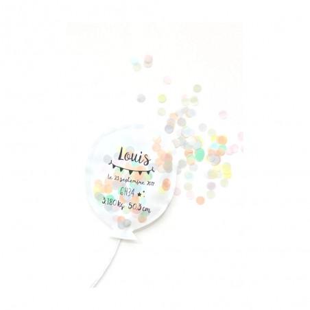 Coussin ballon confettis personnalisé