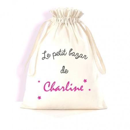 """Petit sac de rangement personnalisé - modèle """"le petit Bazar"""""""